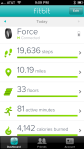 screen shot of the Fitbit App